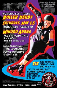 Germaine Koh - Terminal City Rollergirls bout 4.2 poster