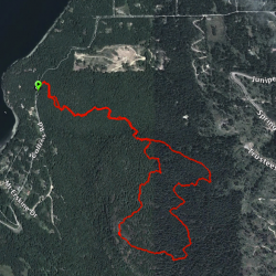 Mount Erskine track viewed on Google Earth