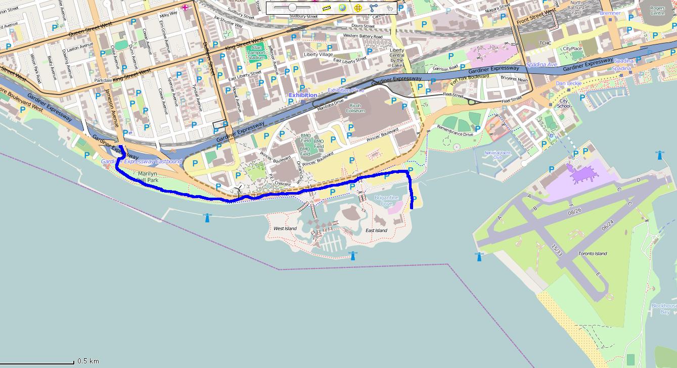 Detroit-Toronto-map